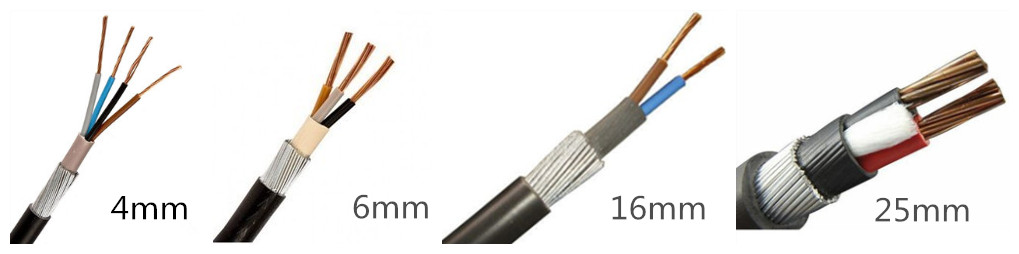 Low Price 70mm/50mm/25mm/16mm/6mm Armored Cable For Sale - HDC