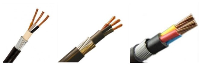 3 core armoured cable size