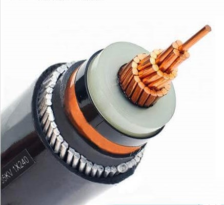 copper armoured cable structure