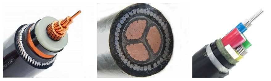 underground copper power cable