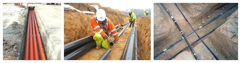 How to restall underground armoured cable