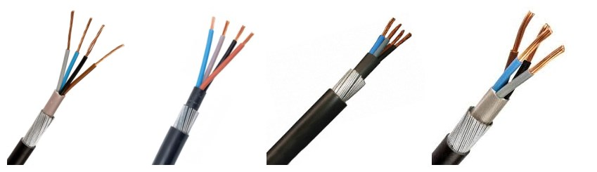 Huadong low price 4mm/16mm 4 core armoured cable