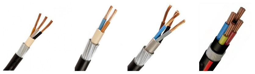 all kinds of swa cable size