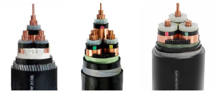 wholesale low price 10mm 3 phase armoured cable