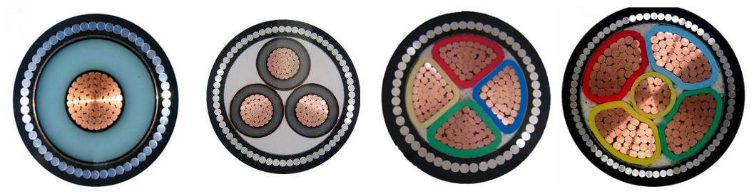 all sizes 4 core armoured cable price list